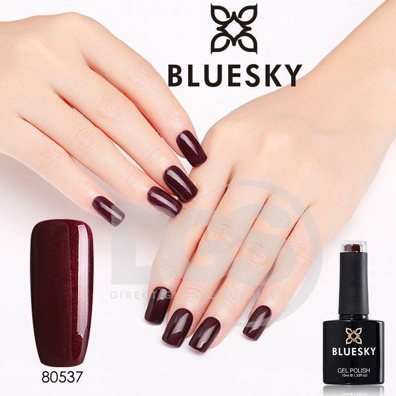 Bluesky 80537 DARK LAVA UV/LED Soak Off Gel Nail Polish