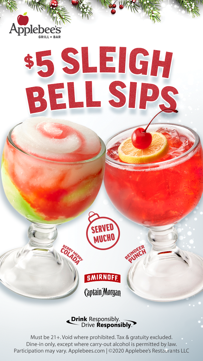New $5 Sleigh Bell Sips are Claus for celebration!