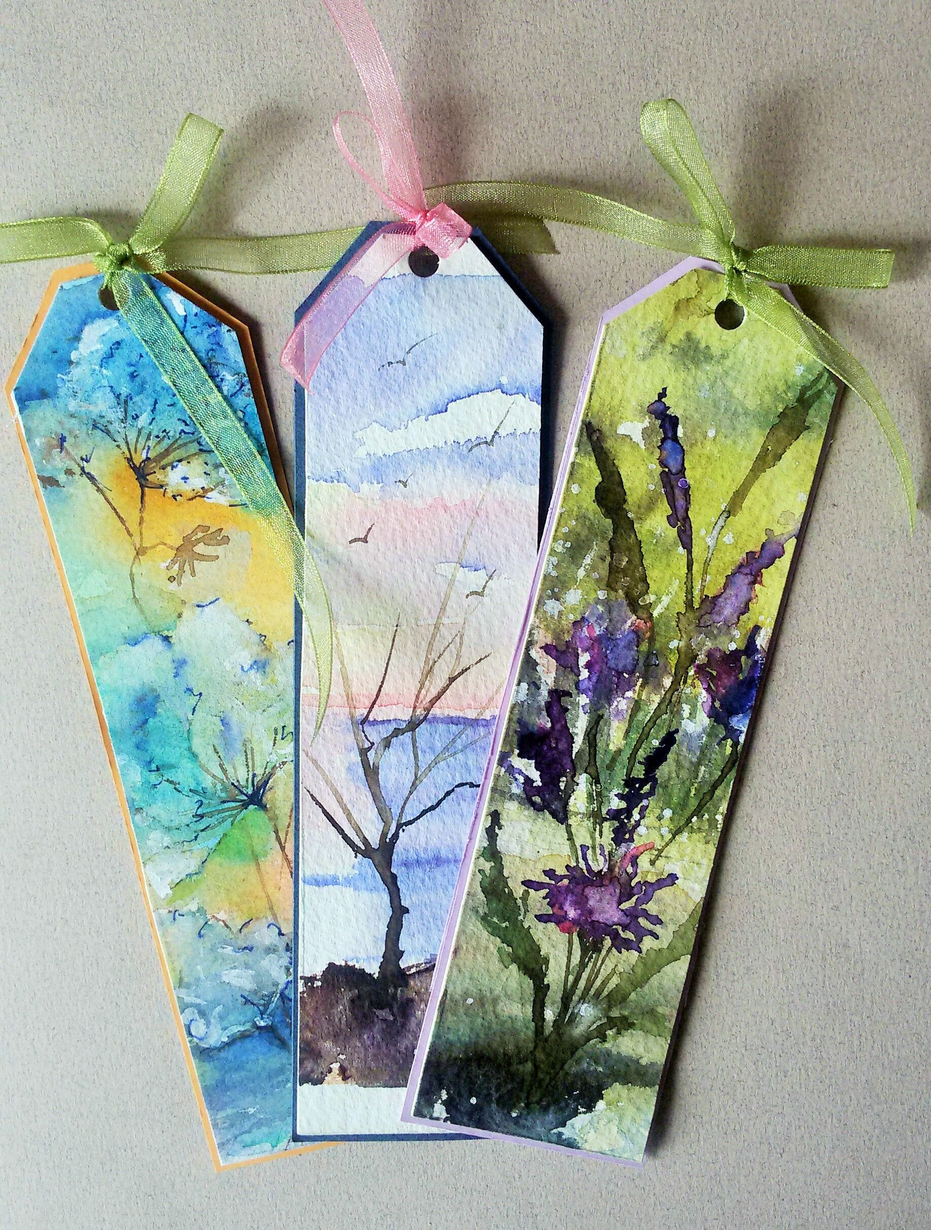 Watercolor bookmarks - Suluboya Kitap Ayra Lar Http Urun Gittigidiyor Com Antika Sanat Handmade Bookmarksbookmark Ideaswatercolor