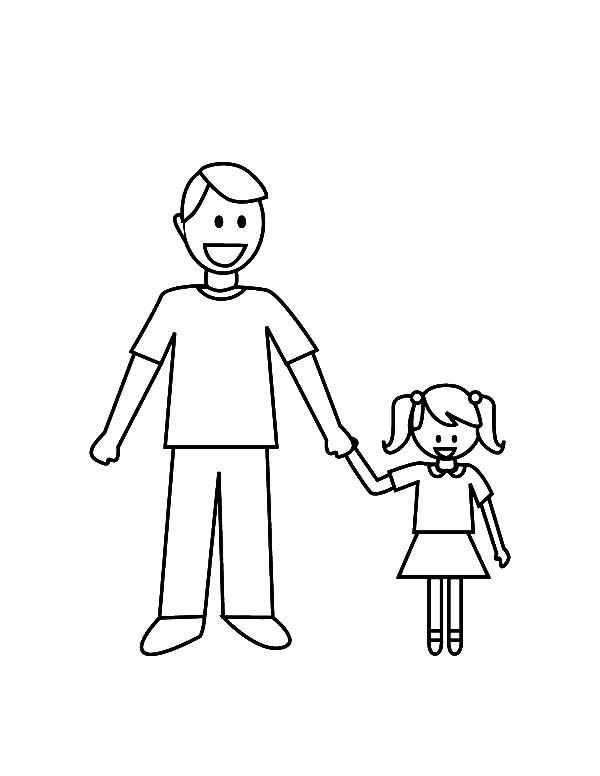 Daddy And Her Daughter I Love Dad Coloring Pages Coloring Sky Fathers Day Coloring Page People Coloring Pages Birthday Coloring Pages
