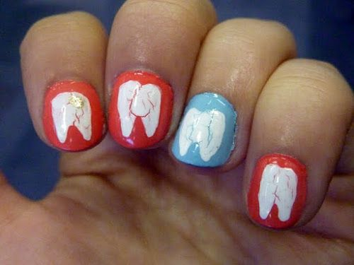 teeth / tooth fairy nail art