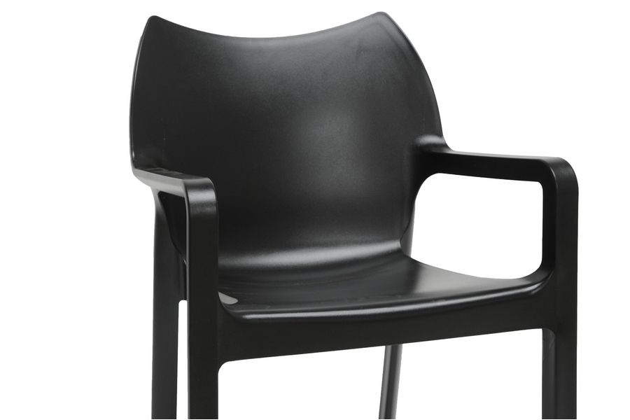 Limerick Black Plastic Stackable Modern Dining Chair Modern