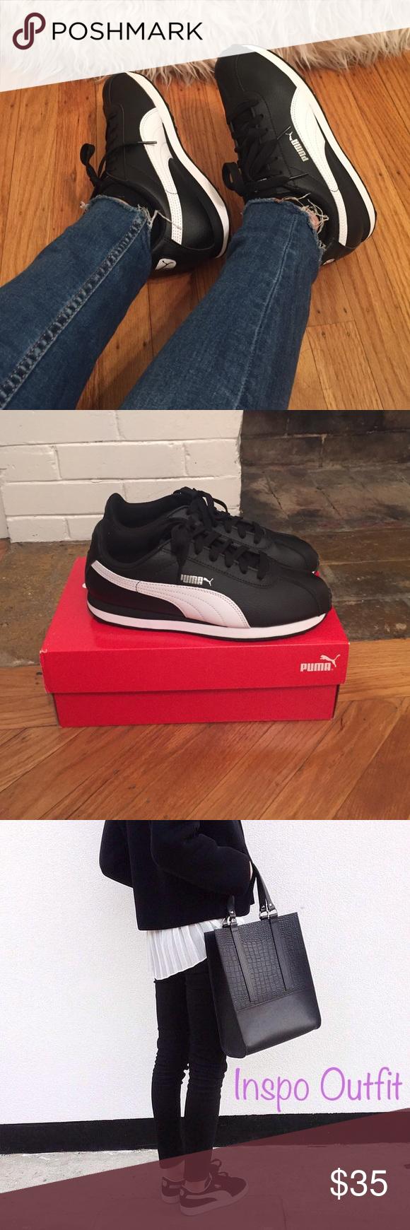 Puma Turin Sneakers Black & White Puma Turin Sneakers