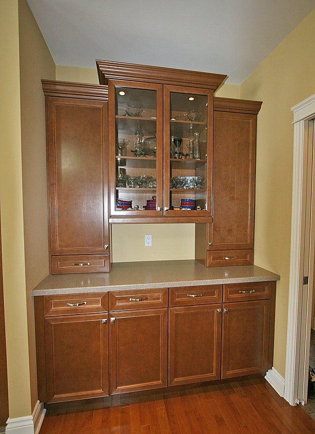 built in china cabinet | Store your best dishes in the built-in ...