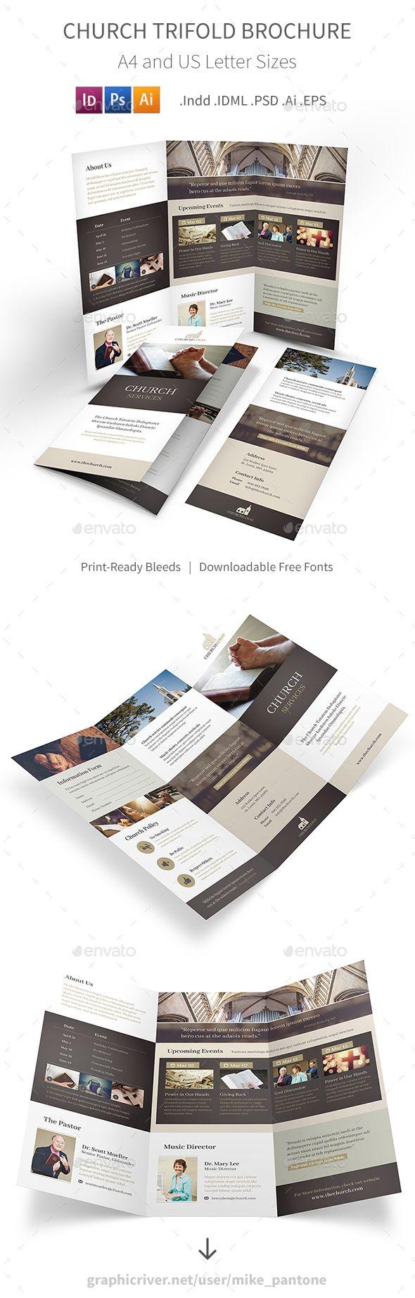 Church Trifold Brochure 4 | Anuncios, Catálogo y Marketing