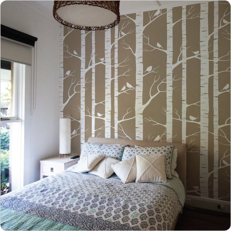Completely customisable colours. This stunning Birch wallpaper by Lara Cameron is gorgeous and will add a WOW factor in any room. A landlord friendly, self-adhered wall sticker fabric.
