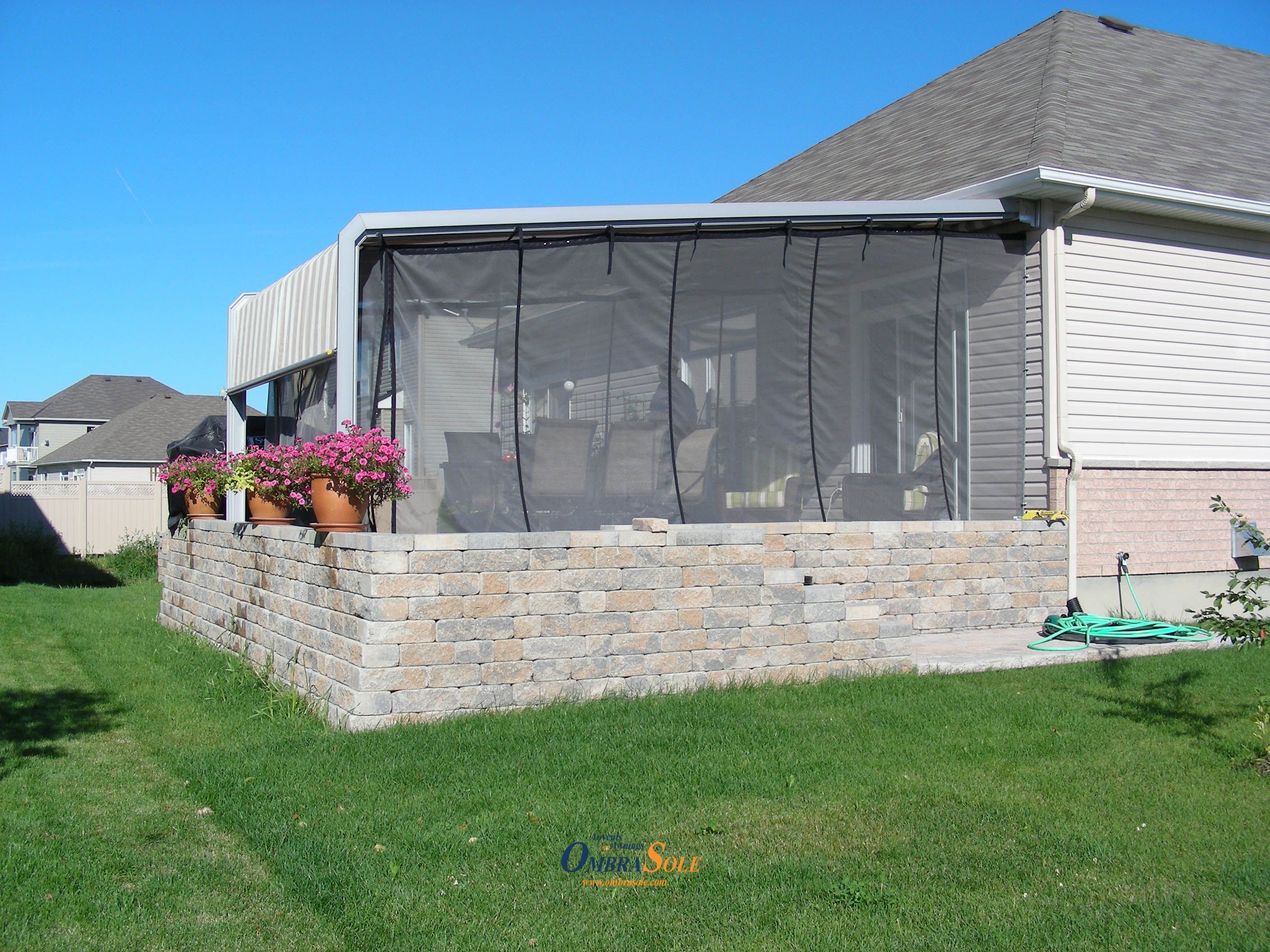 box suit awnings shade to awning mosquito sun net netting rv