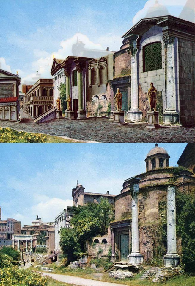 Roma come era ai tempi dei romani e come è oggi Império
