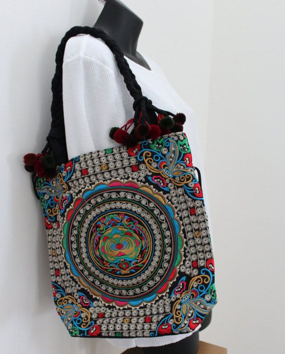 Hey, I found this really awesome Etsy listing at https://www.etsy.com/listing/263618893/silver-embroidered-tribal-shoulder-tote