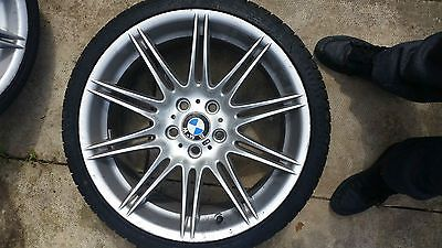 Genuine 19 Bmw 3 Series M Sport Alloy Rims And Tyres Silver