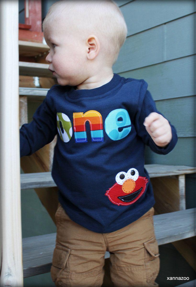 Boy elmo with age shirt by xannazoo on etsy 2600 elmo