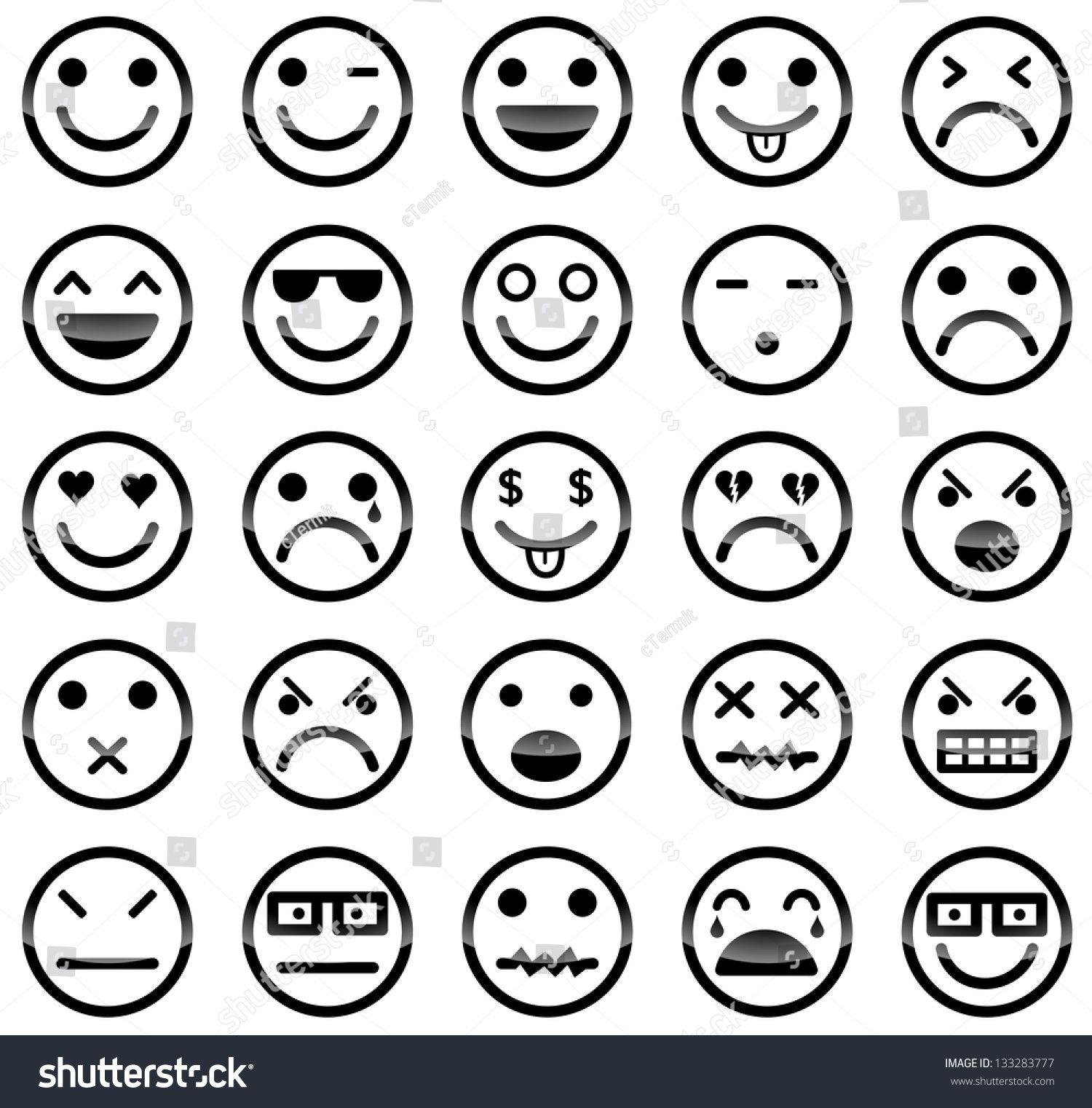 Vector Icons Of Smiley Faces Emoji Tekening Smiley Cartoon Gezichten