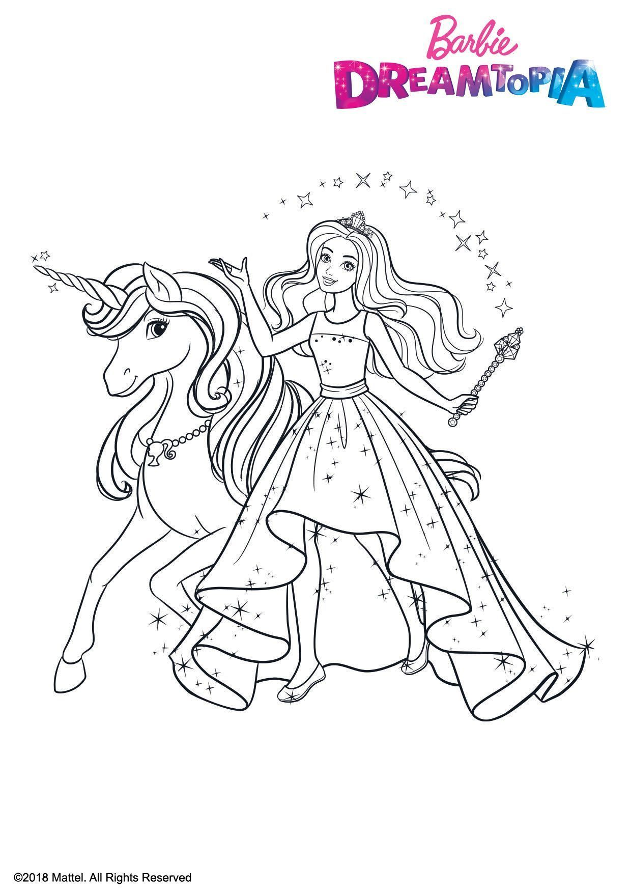 Pin By Marina On Barbie Coloring Book Unicorn Coloring Pages Barbie Coloring Pages Mermaid Coloring Pages