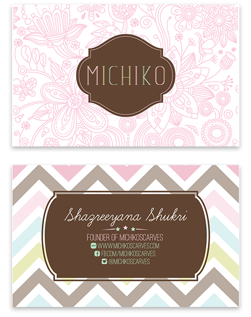 Michiko Scarves Business Card by Shafeeq Hisyam, via Behance