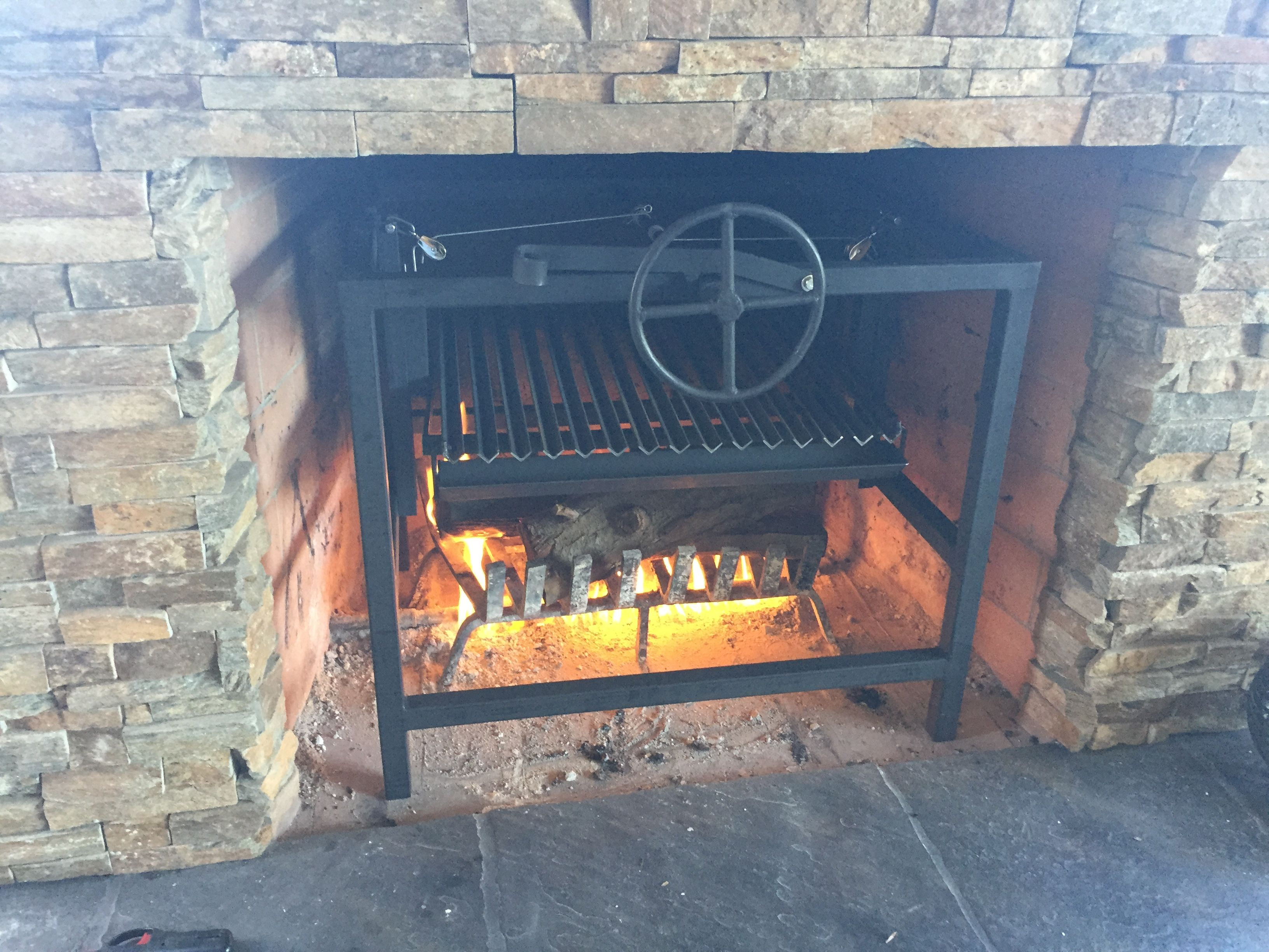 removable argentine grill for a fireplace as always we make what