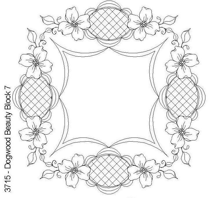 Dogwood Beauty Block 7 by One Song Needle Arts | desen nakış ...