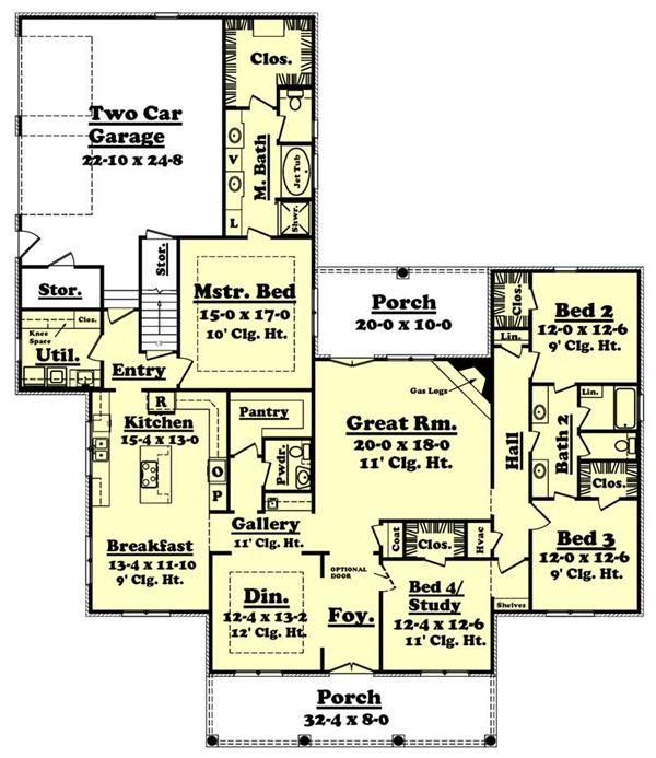 Ordinary French Country House Plans 2800 Square Feet Part - 11: French Country House Plans - Home Design 2800