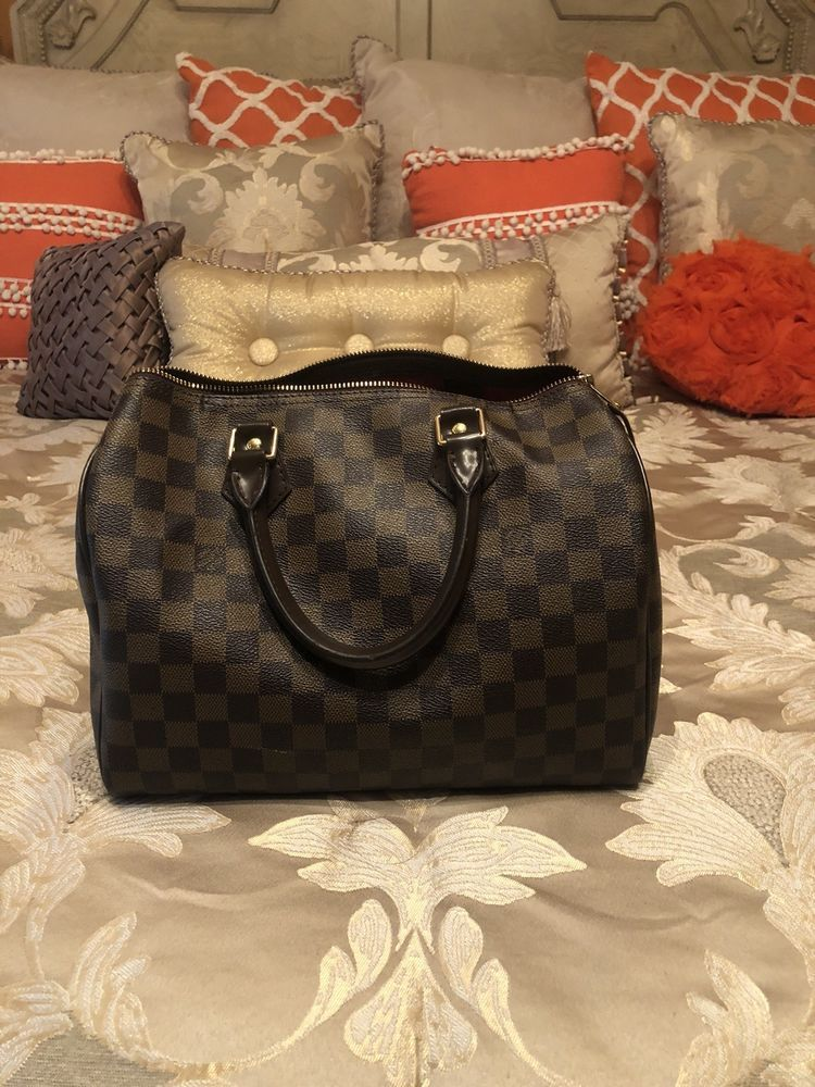 Authentic Louis Vuitton Speedy 30 Damier Ebene Hand Bag Brown  fashion   clothing  shoes  accessories  womensbagshandbags  ad (ebay link) d9f8fbd2d1d
