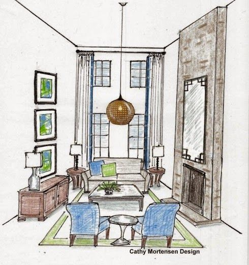 Decorating Dilemma Laurie S Living Room: Design Dilemma: Decorating Rooms With High Ceilings