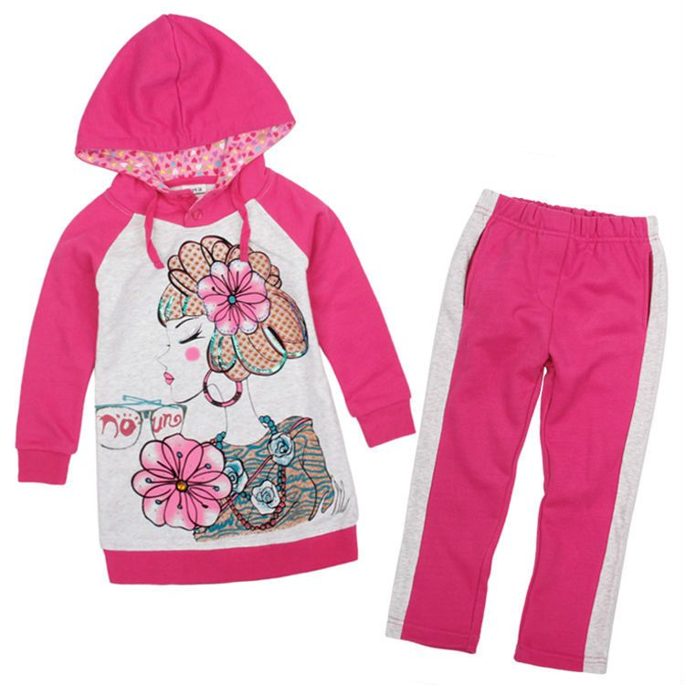 (Buy here: http://appdeal.ru/1gep ) new 2015 Nova brand girls outwear for one baby suit 18m/6y  printing beautiful flowers winter spring sets free shipping FG4633 for just US $36.49