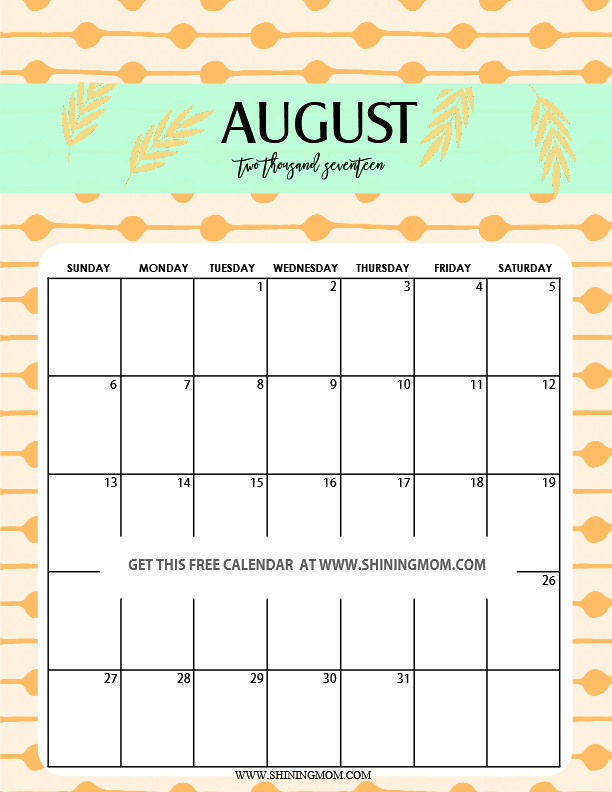 Fun and Cute 2017 Calendar Printable! | Printable calendars and ...