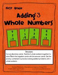 Common Core Activity - 1.OA.2 - Have Fun Teaching