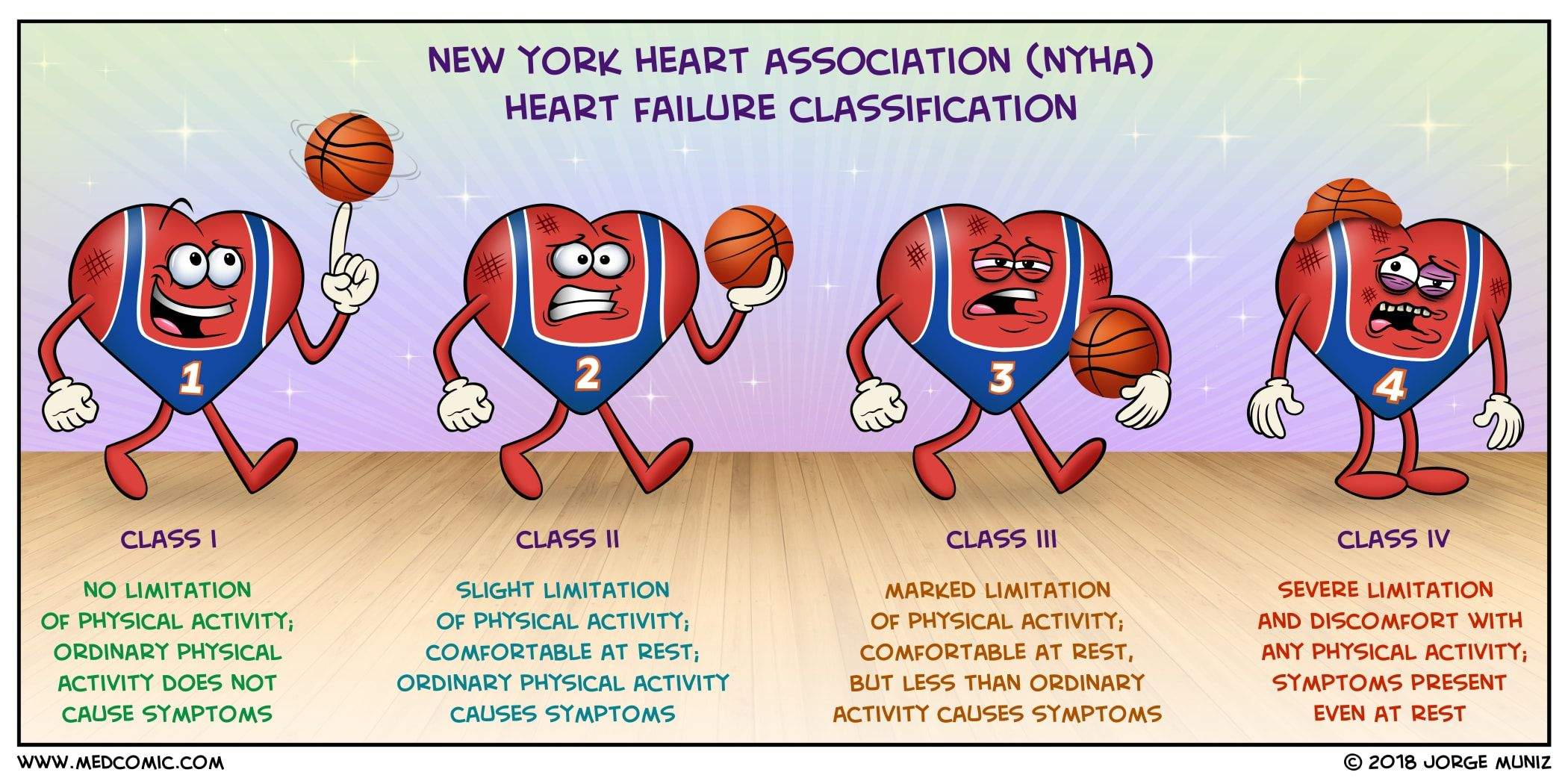Functional classification systems the new york heart