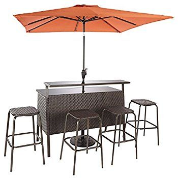 Phenomenal Living Accents 720 110 000 Catalina Bar Set With Umbrella Evergreenethics Interior Chair Design Evergreenethicsorg