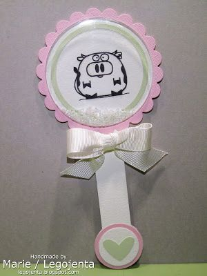 My Creative Creations - handmade by Marie: Baby Rattle Shaker Card