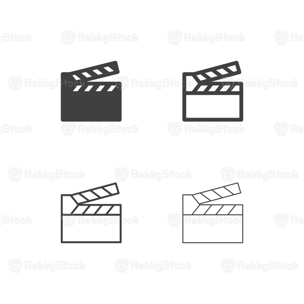 Film Slate Icons Multi Series Vector Eps File Film Logo Icon Tattoo Styles