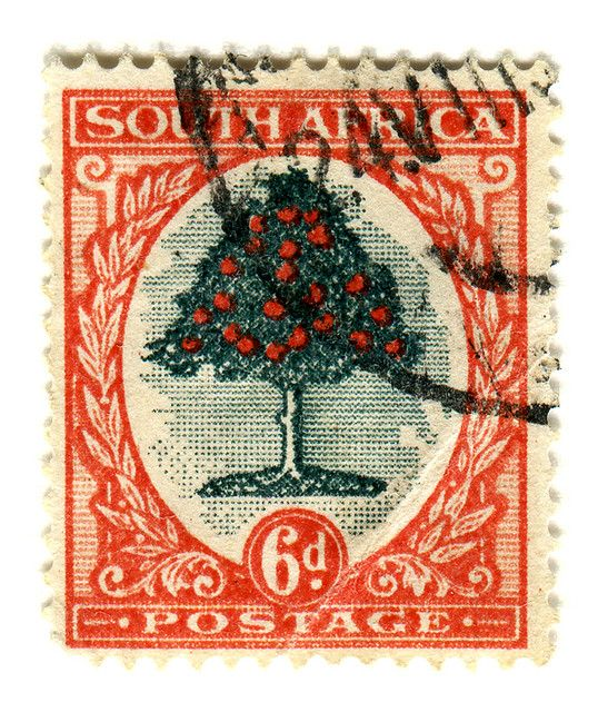 Stamp. Postage. south africa