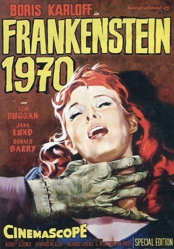 Frankenstein 1970 (1958), a science fiction horror film. Starring Boris Karloff.