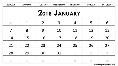 January 2018 calendar Events \ Holidays♥ Pinterest Hello - steps for creating a grant calendar
