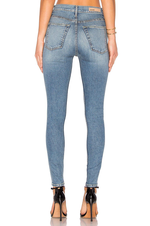 c30f355c8fac19 GRLFRND Kendall Super Stretch High-Rise Skinny Jean in Heart of Glass |  REVOLVE