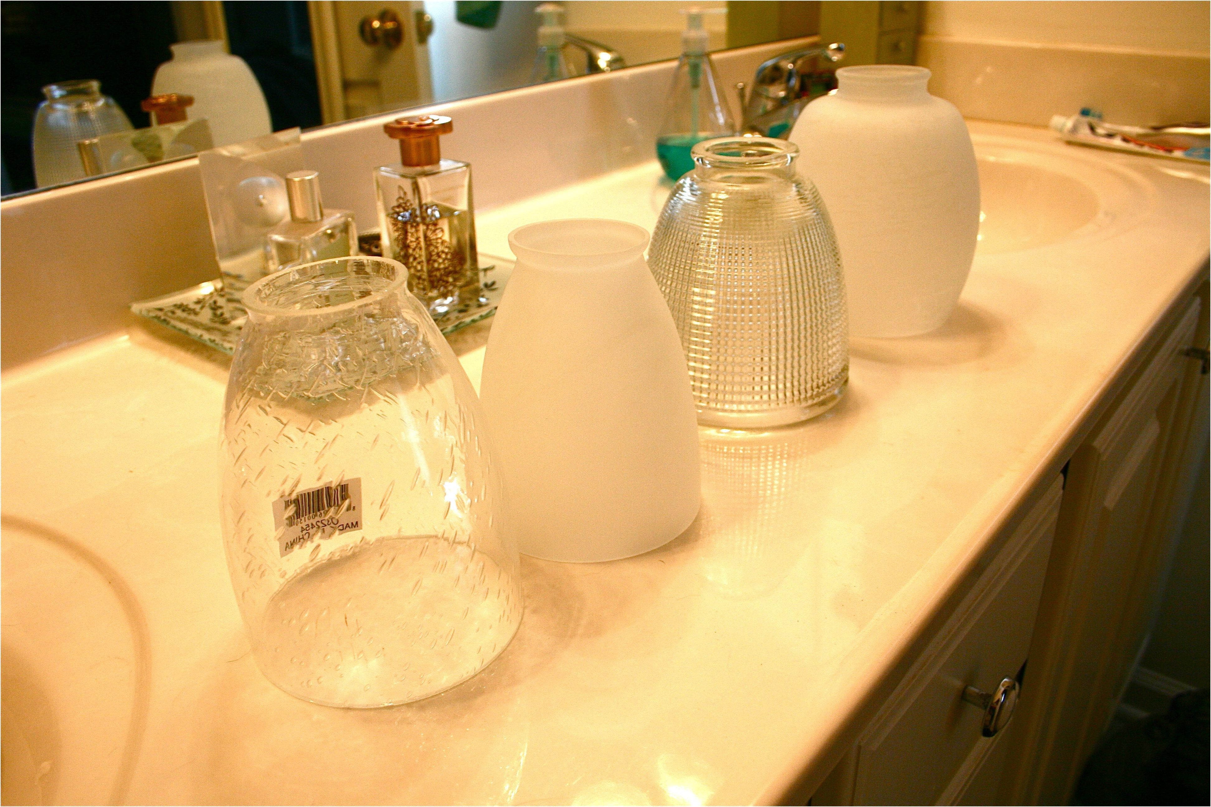 Updating The Bathroom Light Fixture Dream Green Diy From Replacement Glass For Bathroom Light Fixture Bathroom Light Fixtures Bathroom Update Light Fixtures