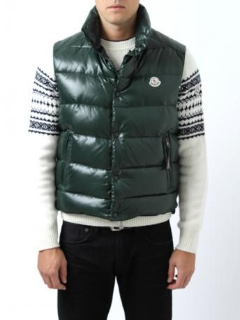 ba3fc2b07 Moncler down jacket - Moncler Tib - dark green - sleeveless down ...