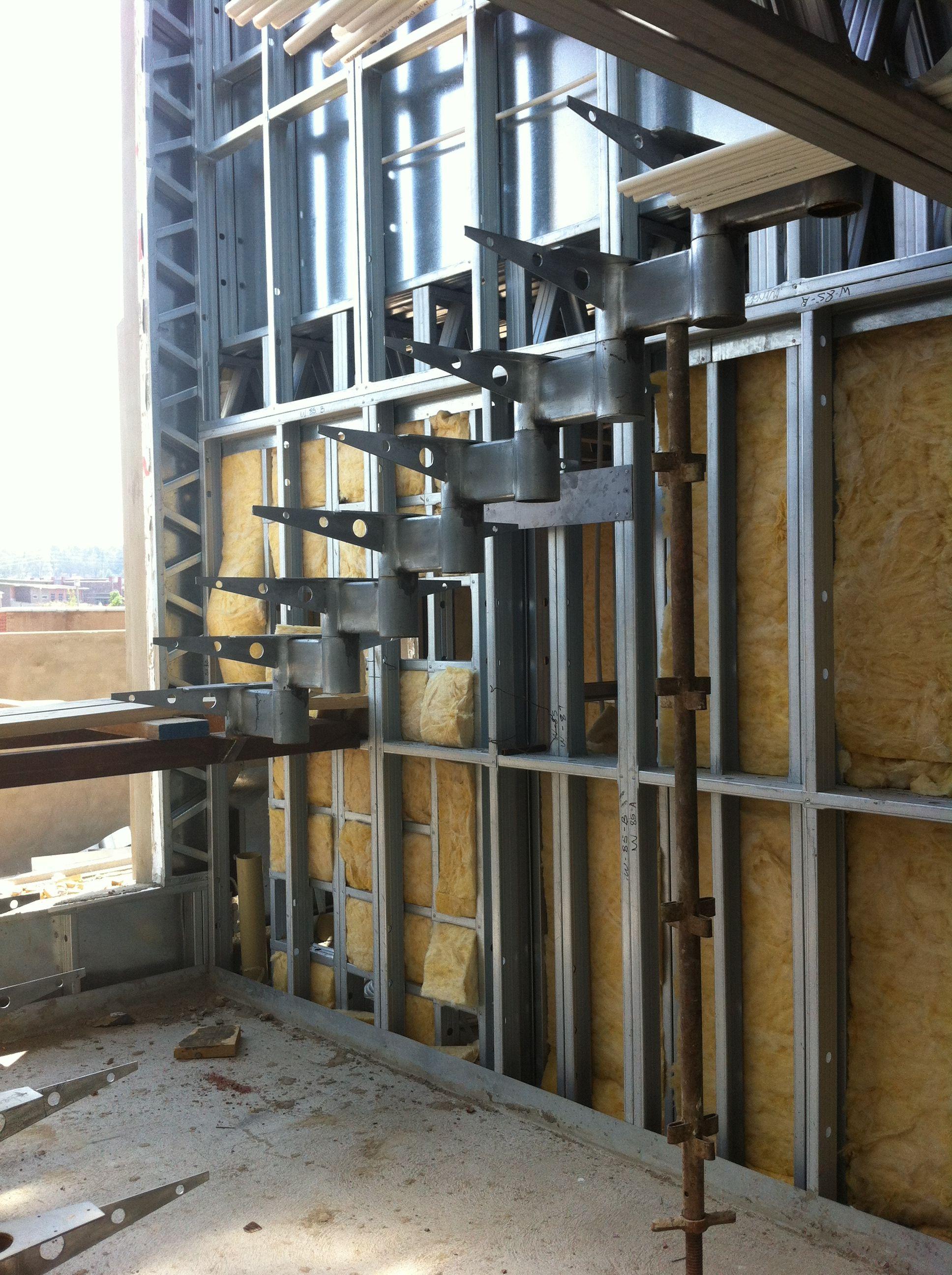 Best 25 cavity insulation ideas on pinterest steel frame construction steel frame and cavity - Steel framing houses ...