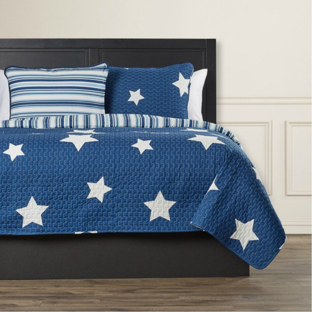 Best 100 Cotton Star Print Patterns With Matching Stripes In 400 x 300