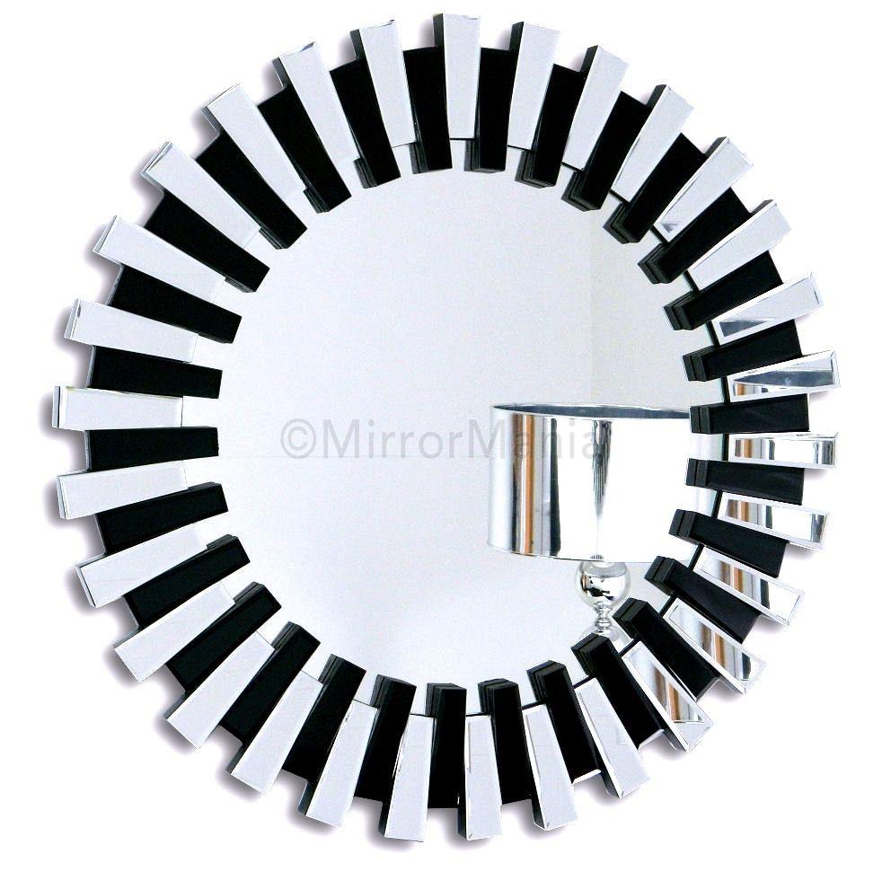 Lille Bevelled Circular Wall Mirror Art Deco Mirrors