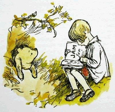 Risultati immagini per winnie the pooh christopher robin reading