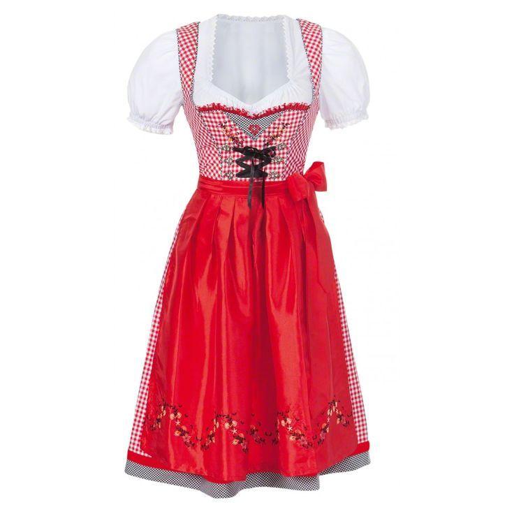 Womens Red Dirndl Kleid Oktoberfest Kostüm Dirndl Regal