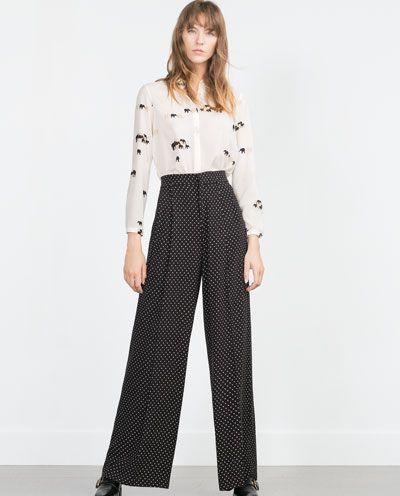 02420b57 ELEPHANT PRINT SHIRT and Polka dot pants | ZARA in 2019 | Printed ...