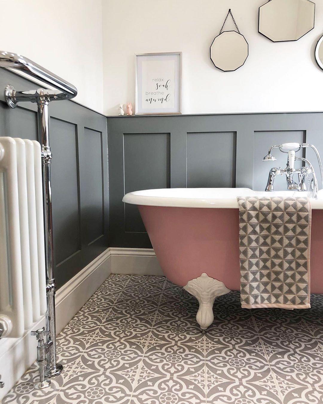 Milton Villa On Instagram Wow I Still Can T Quite Believe That Shopmatalan Liked This Image Of My Bath Bathroom Design Geometric Towel Bathroom Inspiration
