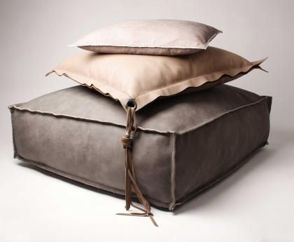 Styling Inspiration Leather Pillow Leather Pouf Floor Cushions