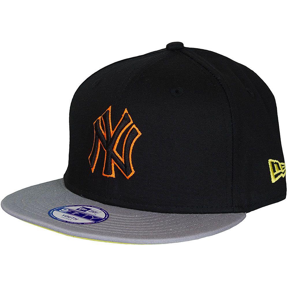 1ac463fb435 ... new era 9fifty youth cap pop outline ny yankees schwarz grau ...