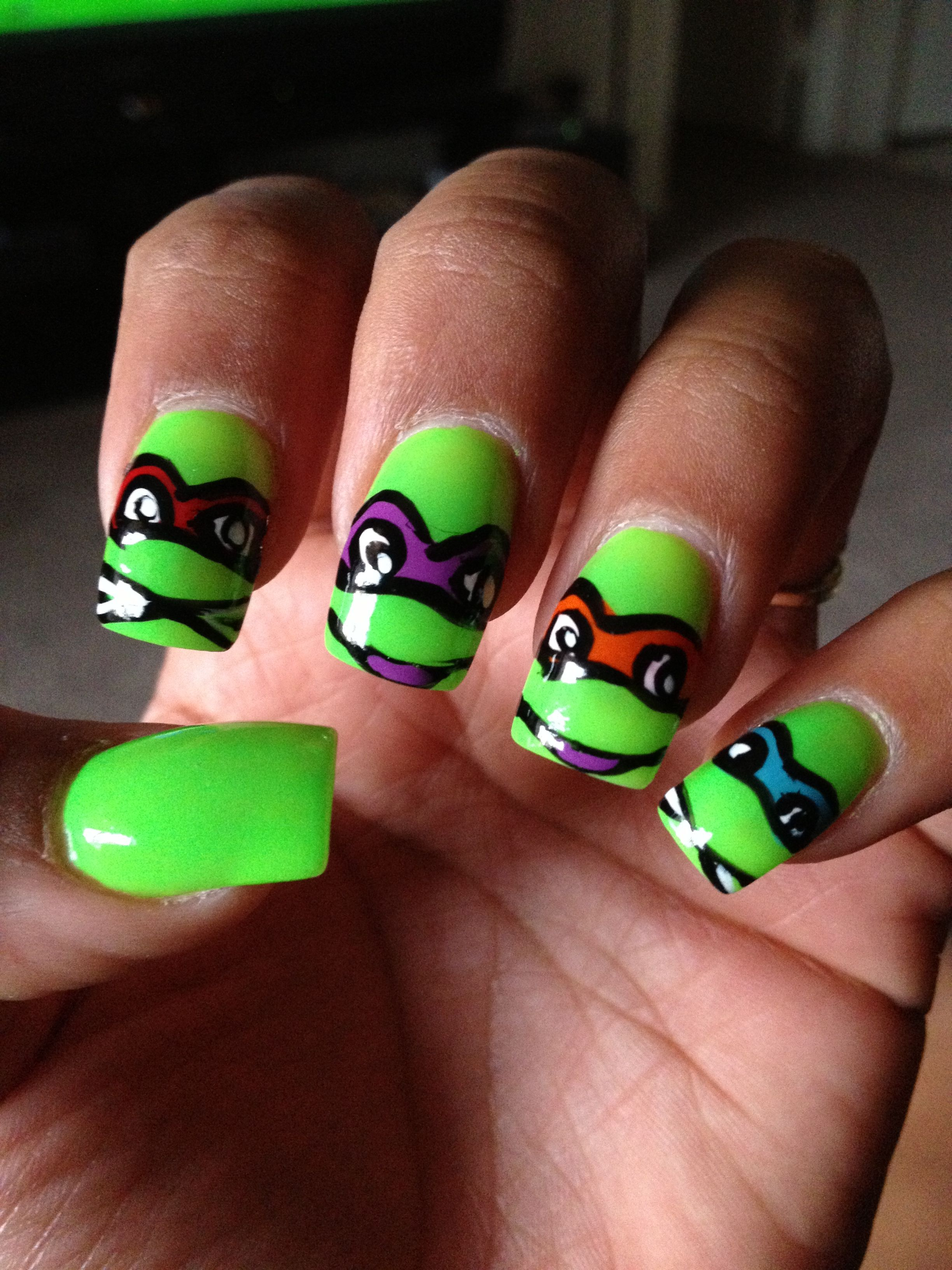 Ninja Turtle Nails   Nails <3   Pinterest   Ninja turtle nails ...