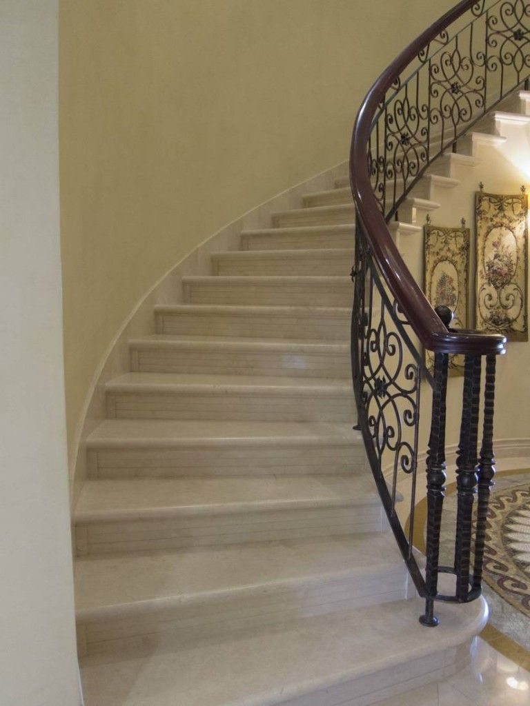 Escalera curva de #mármol | Casa | Pinterest | Escalera, Curvas y ...