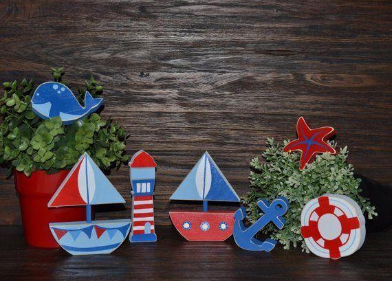 Baby Nursery Nautical Decor Block Set Nautical Nursery Decor Nautical Baby Shower Geschenk Nautical Favor Nautical Geschenk Segel Boot Segeln#baby #block #boot #decor #favor #geschenk #nautical #nursery #segel #segeln #set #shower