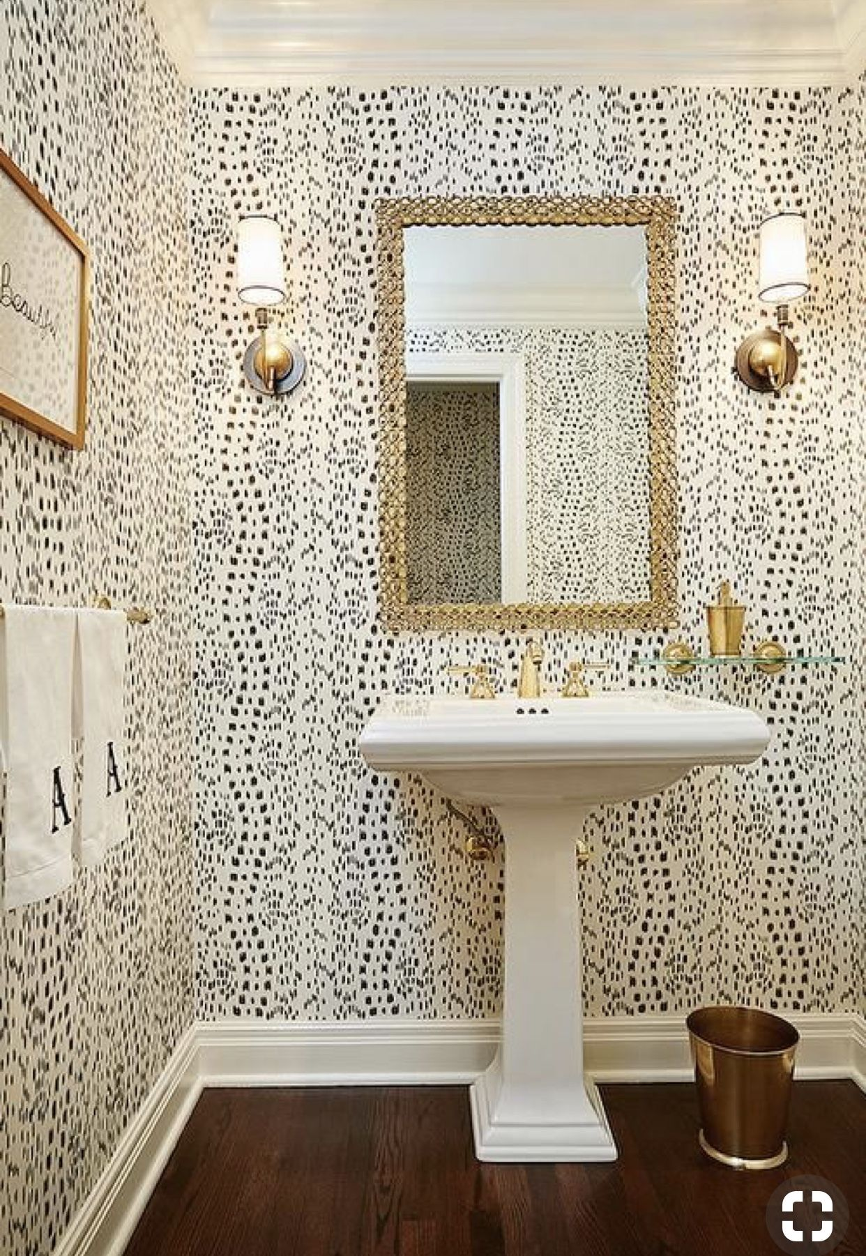 Pin by Erika Howell on Powder Rooms Small bathroom