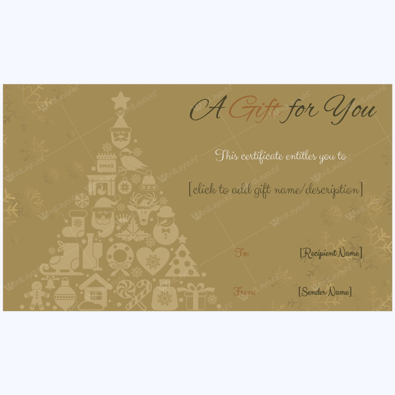 Christmas Gift Certificate Template 28 Mom Pinterest Christmas